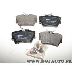 Jeux 4 plaquettes de frein arriere montage lucas 598482 pour volkswagen transporter T4
