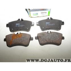 Jeux 4 plaquettes de frein avant montage lucas 598795 pour mercedes classe A B W169 W245
