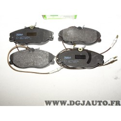 Jeux 4 plaquettes de frein avant montage TRW 598467 pour citroen xsara ZX peugeot 306 406 607