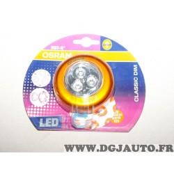 Lampe eclairage LED socle aimanté Osram Classic Dim orange