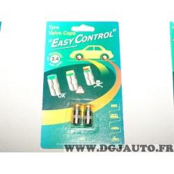 Paire bouchons de valve de pneu jante easy control pour 2.4 bars pression contrôle facile pression