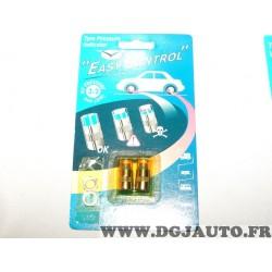Paire bouchons de valve de pneu jante easy control pour 3.2 bars pression contrôle facile pression