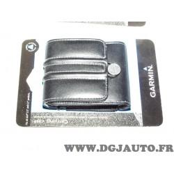 """Housse etui protection transport cuir noir 010-11305-01 pour GPS garmin gamme Nuvi de 3.5"""" à 4.3"""" 3.5 - 4.3 pouces"""