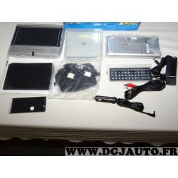 Lecteur DVD portatif avec telecommande et chargeur allume cigare + secteur Oxygen vision one vision 1