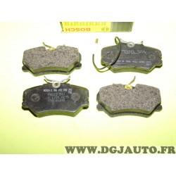 Jeux 4 plaquettes de frein avant montage girling 0986492090 pour peugeot 306 405