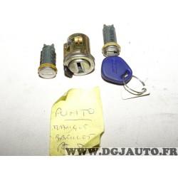 Lot 2 barillets serrure de porte (manque coté droit) + neiman + 1 clé 711614040* pour fiat punto 1 (sans réclamation contenu de