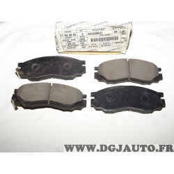 Jeux 4 plaquettes de frein avant montage akebono MR389547 pour mitsubishi L200 L400 space gear delica