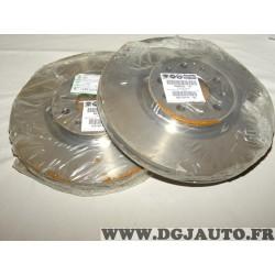 Paire disques de frein avant ventilé 281mm diametre 52067393 pour fiat tipo 2 partir de 2015