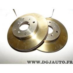 Paire disques de frein avant ventilé 262mm diametre 9004522J pour honda legend HS KA civic MA MB MG MGR rover 800 820 825 827