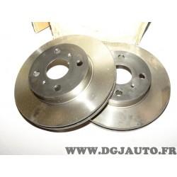 Paire disques de frein avant ventilé 243mm diametre 9004472J pour toyota carina 2 II T15 T150 celica T160 T200