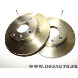 Paire disques de frein avant plein 236mm diametre 9004479J pour skoda favorit forman