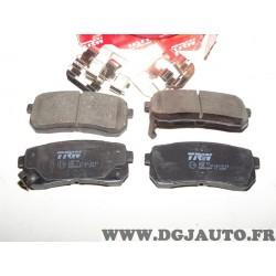 Jeux 4 plaquettes de frein arriere montage mando GDB3449 pour hyundai H1 ix55 kia carnival