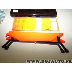 Pochette secours kit triangle de signalisation sécurité avec gilet orange fluo 71803618 (boite ferme mal)