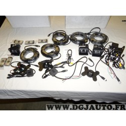 Lot 3 cameras de recul + 5 rallonges cable + 3 supports + 5 telecommandes + 4 modules connections marque Genois adaptable (conte