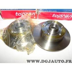 Paire de disques de frein arriere plein 245mm diametre (sans roulement) 104436 pour audi A4 type B5 partir de 1994