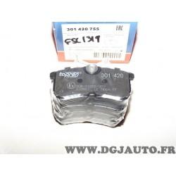 Jeux 4 plaquettes de frein arriere montage lucas 301420 pour ford fiesta 5 V focus