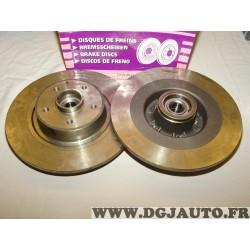 Paire disques de frein arriere plein 300mm diametre avec roulement DI238P pour renault espace 4 IV vel satis velsatis