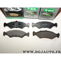 Jeux 4 plaquettes de frein avant montage teves 05P232 pour ford fiesta 1 2 I II essence et diesel