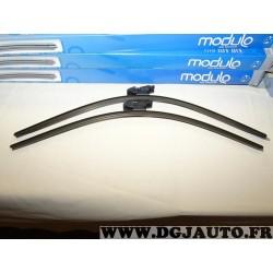 Paire balais essuie glace avant souple modulo 600mm + 580mm 33962Z pour BMW serie 5 E60 E61 partir de 2003
