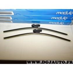 Paire balais essuie glace avant souple modulo 500mm + 500mm 33970Z pour BMW serie 1 E81 E82 E87 E88