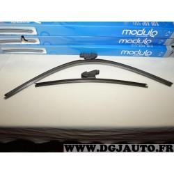 Paire balais essuie glace avant souple modulo 650mm + 400mm 33968Z pour opel corsa D E partir de 2007