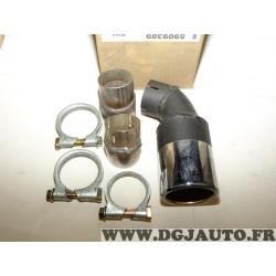 Embout sortie echappement chrome avec collier et manchon 5909389 pour fiat bravo 1.4 1.6 1.8 essence