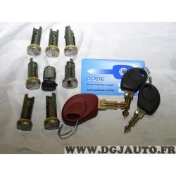 Kit barillets de serrure avec 3 clés 1304889614 pour fiat ducato de 1994 à 2002