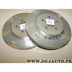 Paire disques de frein avant 345mm diametre ventilé 04779197AG pour chrysler 300C dodge challenger charger lancia thema