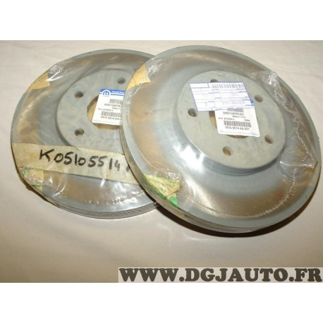 Paire disques de frein avant 294mm diametre ventilé 05105514AA pour jeep compass patriot dodge caliber chrysler sebring chrysler