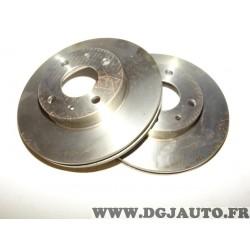 Paire disques de frein avant ventilé 240mm diametre 7650707 pour fiat uno turbo 1.3 1.4 turbo i.e