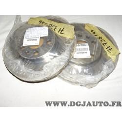 Paire disques de frein avant ventilé 257mm diametre 71738144 pour peugeot 806 expert fiat scudo 1 ulysse citroen evasion jumpy