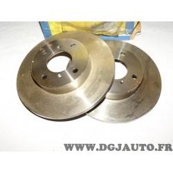 Paire disques de frein avant 247mm diametre plein 71755573 DF0394 pour opel agila A suzuki wagon R+