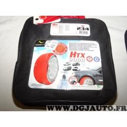 Paire chaussettes neige HTX 2000 N°234 979234 pour pneu roue jante 265/75/15 215/85/16 235/80/16 245/75/16 265/70/16 285/65/16