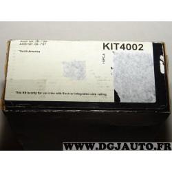 Kit pieds fixation barre de toit KIT4002 pour audi Q5 partir de 2008 Q7 partir de 2006