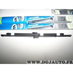 Paire balais essuie glace souple 640mm + 520mm silencio xtrm valeo VM491 574591 pour audi A6 partir de 2011