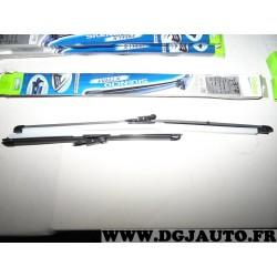 Paire balais essuie glace souple 600mm + 400mm silencio xtrm valeo VM372 574472 pour BMW E92 E93 serie 3 dont M3 partir de octob