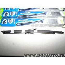 Paire balais essuie glace souple 550mm + 450mm silencio xtrm valeo VM341 574741 pour BMW serie 1 2 F20 F21 F22 F23