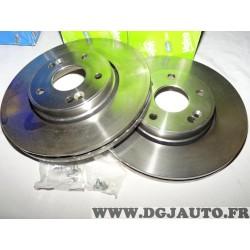Paire disques de frein avant ventilé 280mm diametre 197328 pour renault laguna 2 II dont break