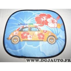 Rideau universel paresoleil pare-soleil 406201 motif volkswagen Cox coccinelle à fleurs