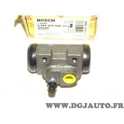 Cylindre de roue frein arriere gauche montage lucas 0986475642 pour renault 19 R19