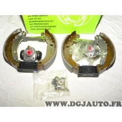 Kit frein arriere prémonté 180x40mm montage bendix 554707 pour renault twingo 1