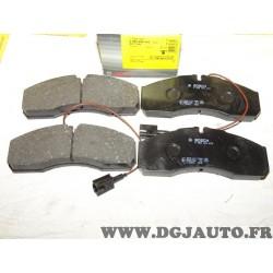 Jeux 4 plaquettes de frein avant montage brembo 0986494278 BP1190 pour nissan NT500 renault maxity