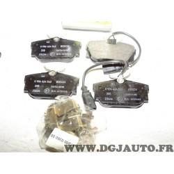 Jeux 4 plaquettes de frein arriere montage lucas 0986424542 pour ford galaxy seat alhambra volkswagen sharan