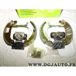 Kit frein arriere prémonté 180x32mm montage bendix 554712 pour peugeot 206