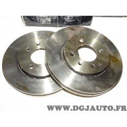 Paire disques de frein avant ventilé 256mm diametre 0986479054 pour volkswagen lupo polo 3 III