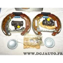 Kit frein arriere prémonté montage bendix 180x30mm 0204114128 pour peugeot 206