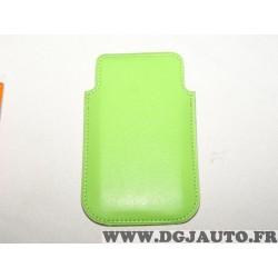 Etui pochette verte protection telephone portable mobile GSM Auxence