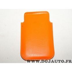 Etui pochette orange protection telephone portable mobile GSM Auxence