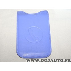 Etui pochette logo violet protection telephone portable mobile GSM Auxence