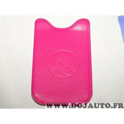 Etui pochette logo rose protection telephone portable mobile GSM Auxence